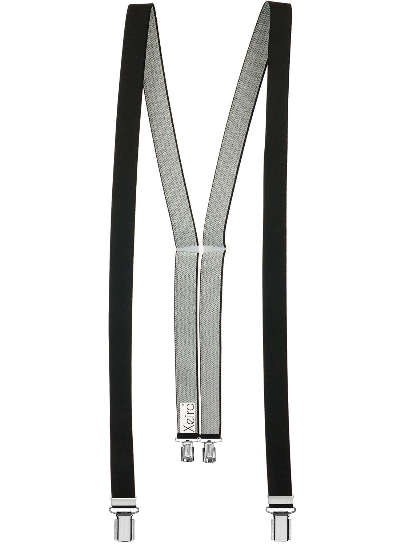 Xeira Hochwertige Hosentr/äger f/ür Herren und Damen Extra Stark und Extra Lang in UNI /& Gestreiften Design mit 3 XL ADLER Clips 4cm Breit