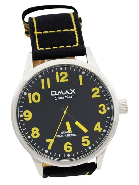 Omax Herren Uhr Analog Schwarz / Gelb - Extra Breit