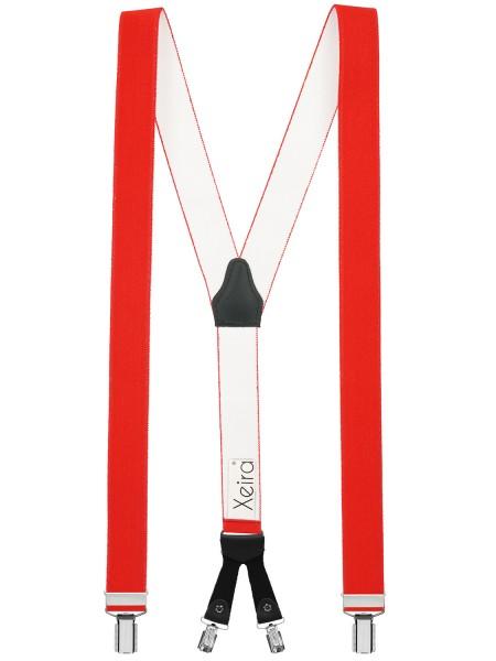 Hochwertige Hosenträger Y Design 4 Clips mit Lederriemen