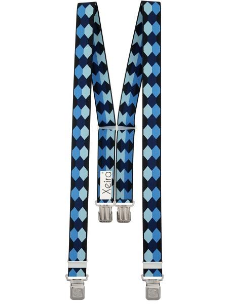 Hosenträger in Trendigen Retro Design mit 4 XL Adler Clips