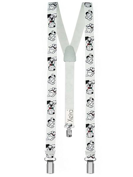 Kinder Hosenträger Hündchen Design Weiß