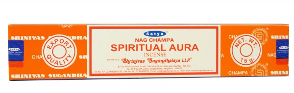 Räucherstäbchen Satya Nag Champa SPIRITUAL AURA - 15g