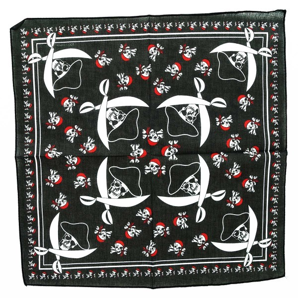 Bandana in Piraten Totenkopf Muster