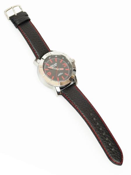Omax Herren Uhr Analog Schwarz Rot - Extra Breit