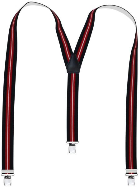 Hochwertige Hosenträger in Trendigen Streifen Design -XL Clips