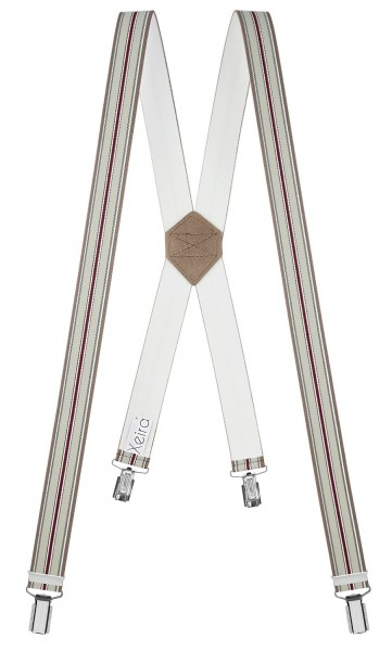 Hosenträger 4 Clips in Gestreiften X Form
