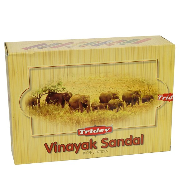 Räucherstäbchen Tridev Vinayak Sandal 12 x 20g Großpackung 240g