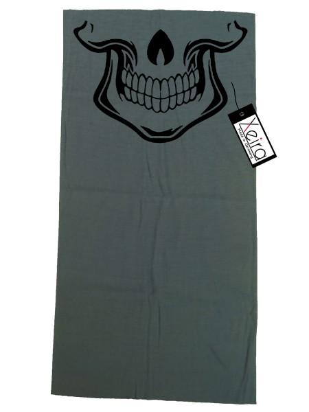Multifunktionstuch mit Totenkopf Design - Grau