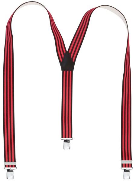 Hochwertige Hosenträger in Trendigen Neon Streifen -XL Clips