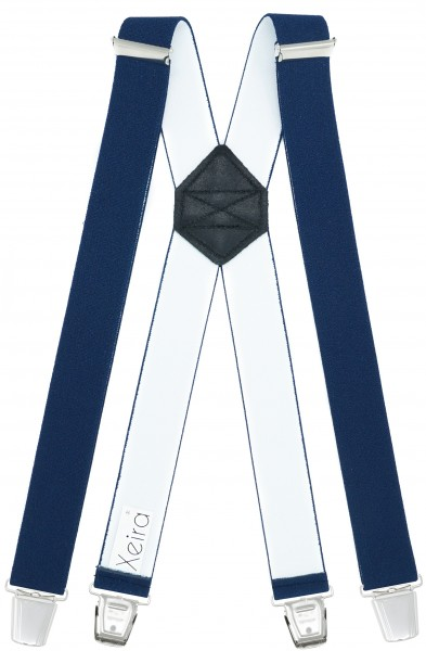 Hosenträger mit 4 XL Clips Extra Lang Dunkelblau