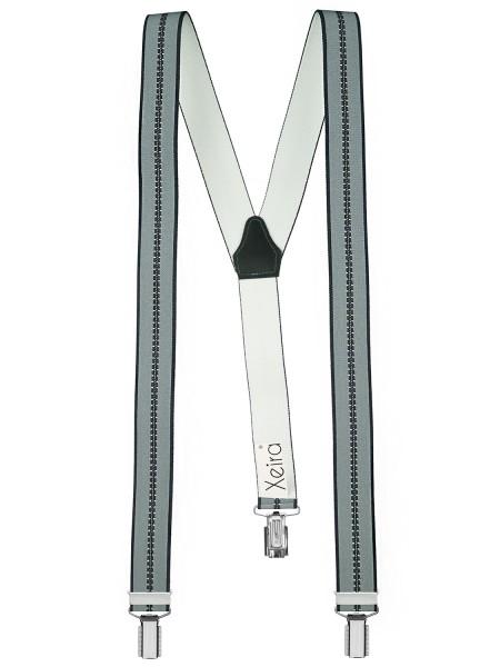 Hochwertige Hosenträger in Trendigen Grau Streifen Design