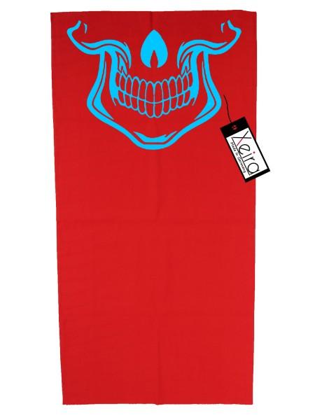 Multifunktionstuch mit Totenkopf Design - Rot