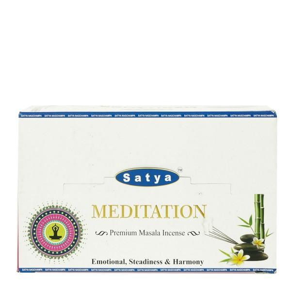 Satya Nag Champa Meditation 15g x 12 = 180g