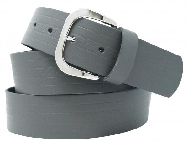 Ledergürtel 3cm Breit - Echt Leder mit Prägung