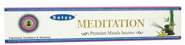 Räucherstäbchen Satya MEDITATION Premium Masala - 15g