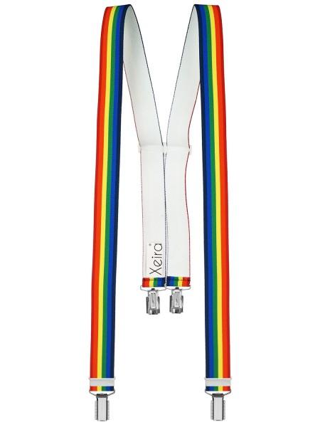 Hochwertige Hosenträger in Multicolor 4 Clips