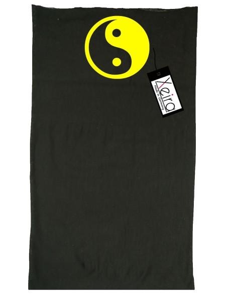 Multifunktionstuch In Yin Yang Design - Schwarz