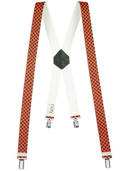 Kariert X Form Hosenträger mit 4 Clips