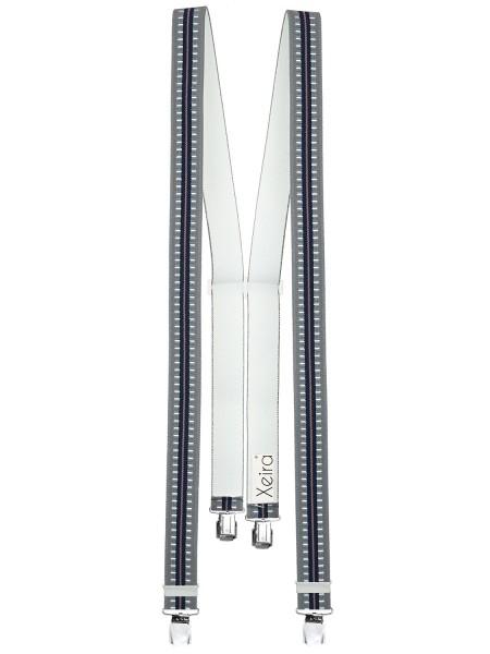 Hosenträger in Gestreiften Design mit 4 XL Clips