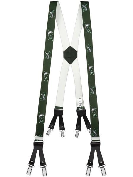 Hosenträger mit 8 Clips in Angler Design
