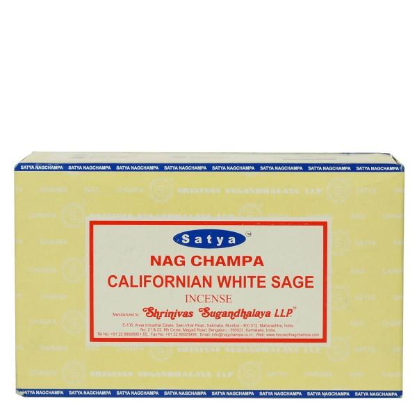 Satya Nag Champa Californian White Stage Räucherstäbchen 180g