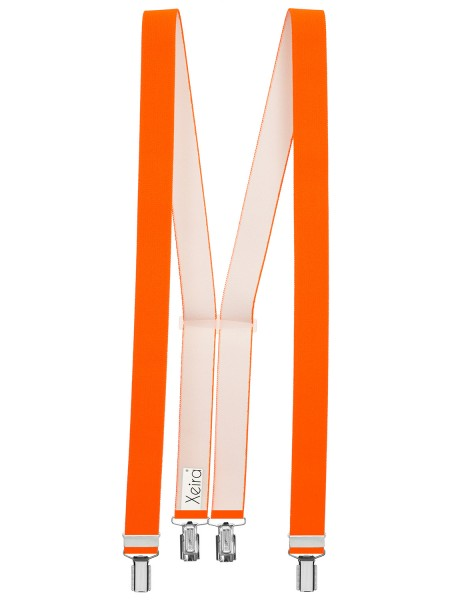 Hosenträger in Trendigen Uni & Neon Farben mit 4 Clips