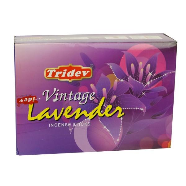 Räucherstäbchen Tridev Vintage Lavender 12 x 20g Großpackung 240g