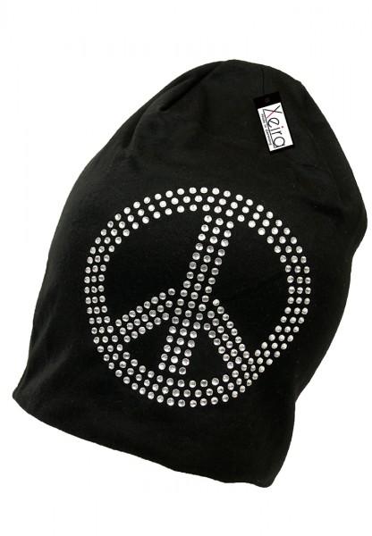 Beanie in trendigen Peace Design