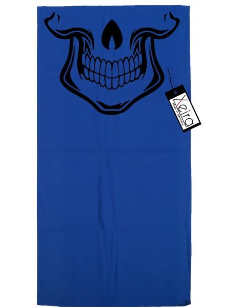 Multifunktionstuch mit Totenkopf Design - Königsblau