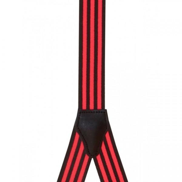 Hosenträger mit Schwarzen und Neon Streifen