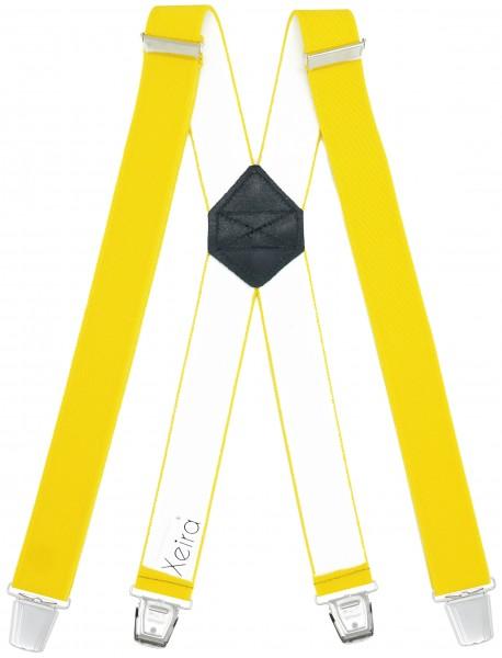 Hosenträger mit 4 XL Clips Extra Lang Gelb