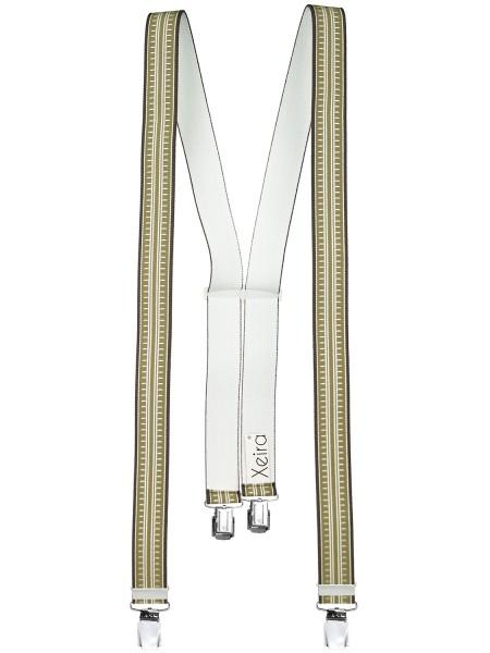Hosenträger in Streifen Design mit 4 Extra Starken XL Clips