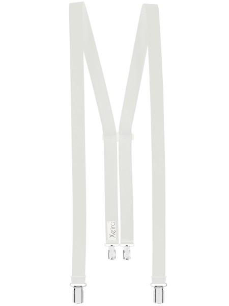 Hosenträger 4 Clips für Damen Weiß