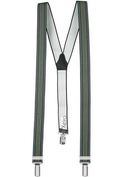 Hochwertige Hosenträger in Trendigen Gestreiften Farben und 3 Clips