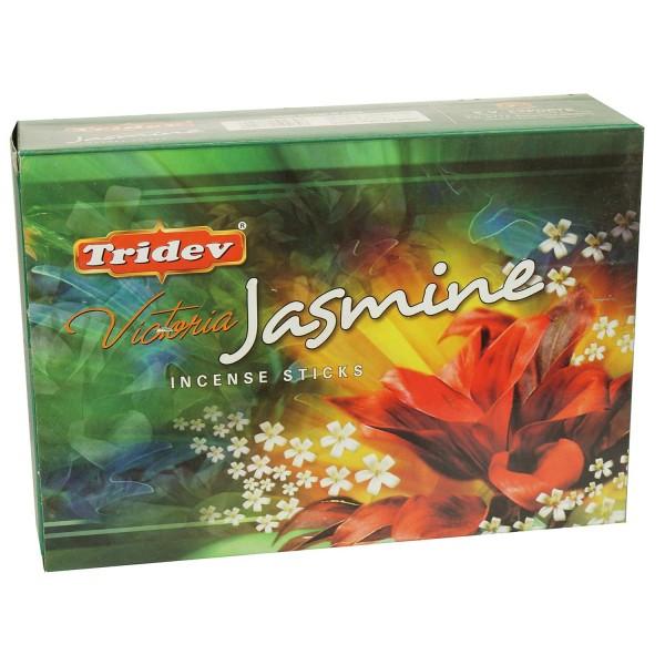 Räucherstäbchen Tridev Victoria Jasmine 12 x 20g Großpackung 240g