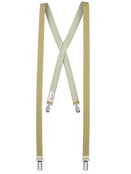 Hosenträger X- 4 Clips Design in Uni Farben