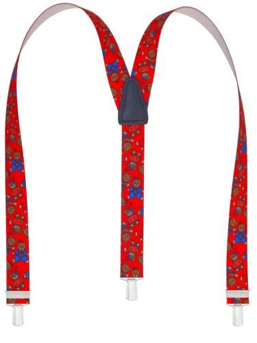 Bären Design mit 3 Clips Rot
