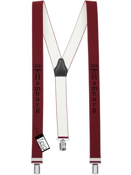 Hosenträger Hamburg Design mit 3 Clips von Xeira - Bordeaux