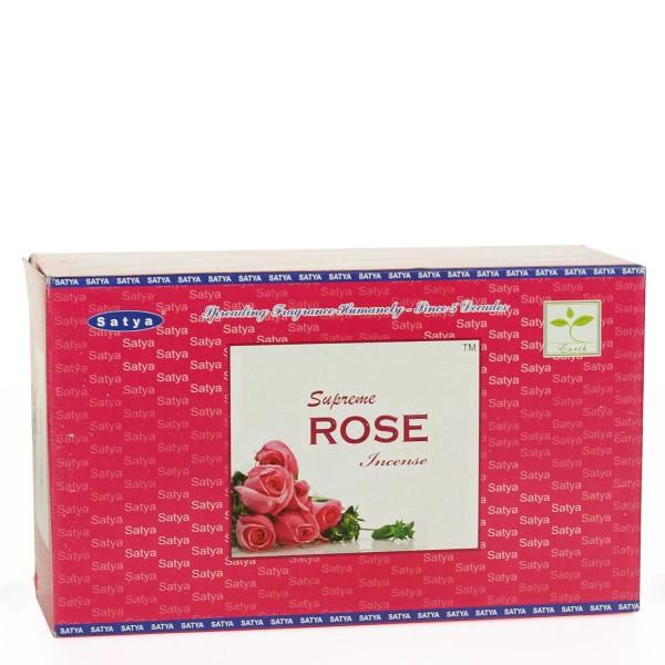 Satya Supreme Rose Räucherstäbchen 15g x 12 = 180g