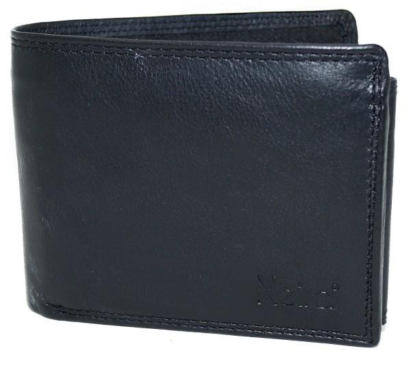 RFID Schutz Geldbörse aus 100% Echt Leder im Querformat
