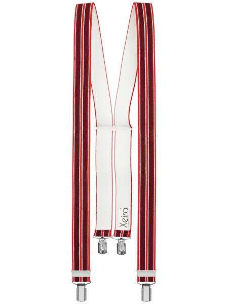 Hochwertige Hosenträger in Trendigen Blau Gestreift Design mit 4 Clips