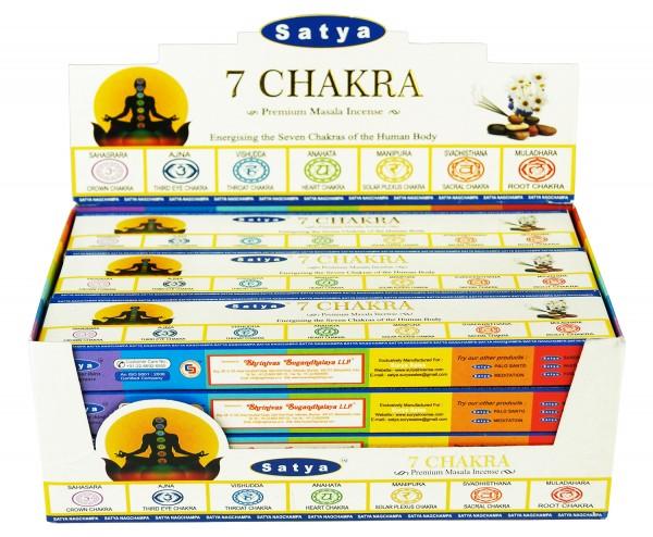Satya 7 Chakra Räucherstäbchen 12x15g