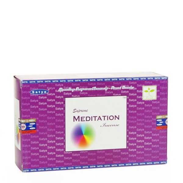 Satya Supreme Meditation Räucherstäbchen 15g x 12 = 180g