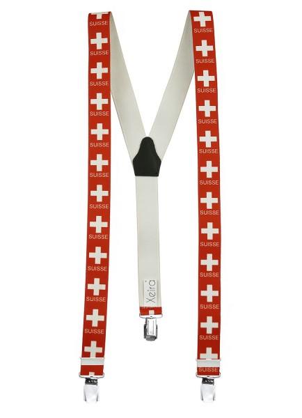 Hochwertige Hosenträger Schweizer - Suisse Design 3 XL Clips