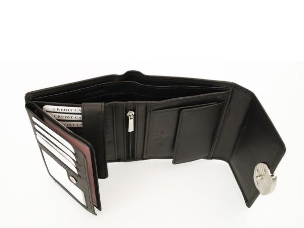 Hochwertige Damen Geldbörse aus 100% Echt Leder - Querformat