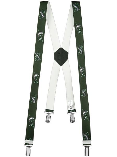 Hosenträger mit 4 Clips in Angler Design