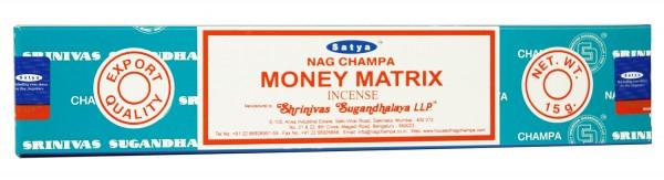 Räucherstäbchen Satya Nag Champa MONEY MATRIX - 15g